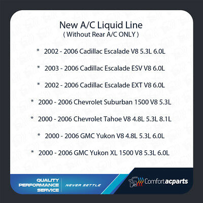 Chevrolet AC Discharge Line Fits GMC Series SEE CHART 2000-2002 Cadillac