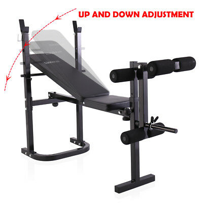 Weight Bench Lifting Press With Home Gym Equipment Exercise Set 3