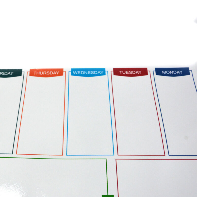 Large A3 Magnetic Whiteboard Family Weekly Planner Shopping List+ 2 Free Marker 8