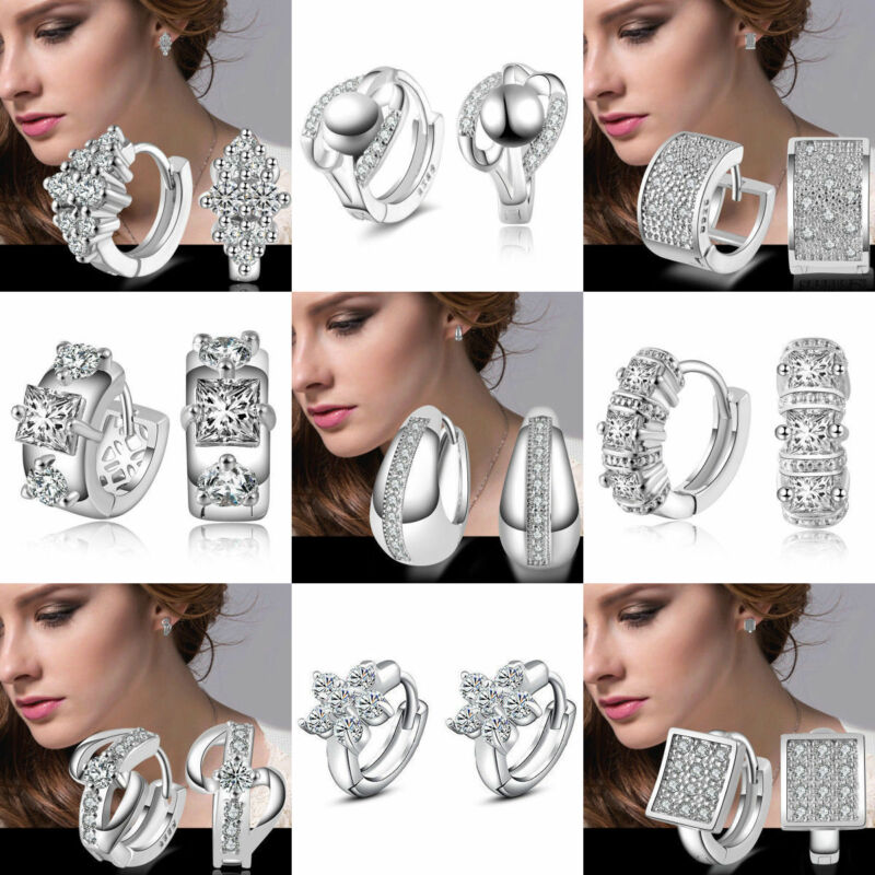 1 Pairs Fashion Women/Men Stainless Steel Hoop Earrings Circle Round Jewelry 3