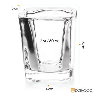 Square Shot Glasses Cube Shooting Drinking Glass Tequila Vodka Whiskey Party Cup 6