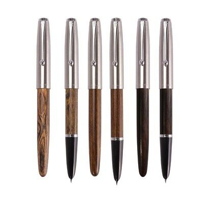 Jinhao 51A Acrylic/Wood Fountain Pen Metal Cap Extra Fine Nib 0.5/0.38MM Writing