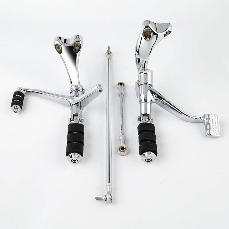 CNC Set Forward Control Complete Kit Pegs Lever Linkage Fit For Harley Sportster