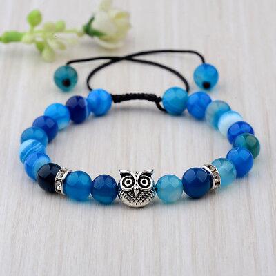 Men Women 8mm Natural Round Gemstone Bead Handmade Beads Bracelets Charm Jewelry 7
