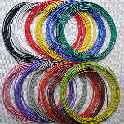 16awg - 30awg Flexible Electronic Wire UL1007 Stranded Cable 11 Colors Choose 3