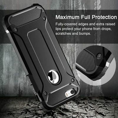 Hybrid Armor Shockproof Rugged Bumper Case For Apple iPhone 10 X 8 7 Plus 6s 5s 3