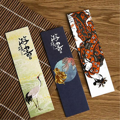 30pcs/lot Cute Paper Bookmark Vintage Japanese Style Book Marks Reading Supplies 3