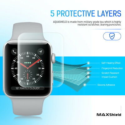 MaxShield Screen Protector for Apple Watch Series 2/3/4/5 38/42mm 40/44mm iWatch 9