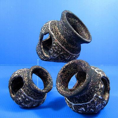 Egyptian Jar Céramique SET Decor - Aquarium Ornement Cave Bonsai Vase Masquer 7