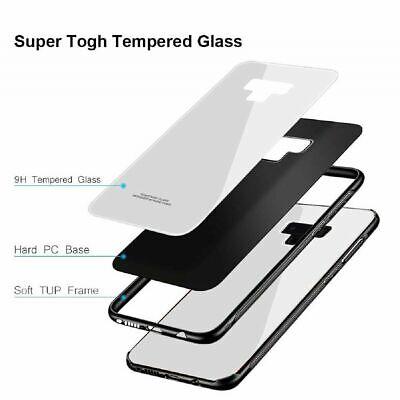 Samsung Galaxy S10 S9 Plus S10e Note 9 Case Slim Bumper Cover Tempered Glass 10