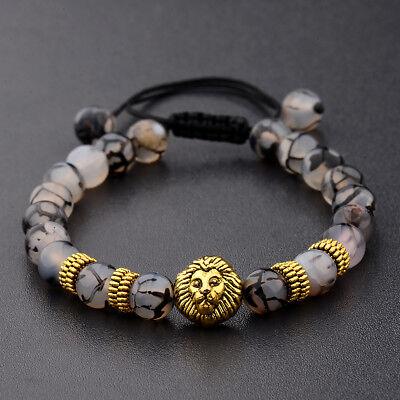 Men Women 8mm Natural Round Gemstone Bead Handmade Beads Bracelets Charm Jewelry 4