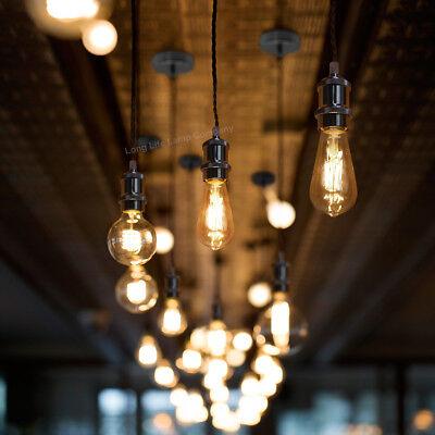Ceiling Rose Fabric Flex Hanging Pendant Lamp Holder Light Fitting Lighting Kit 5