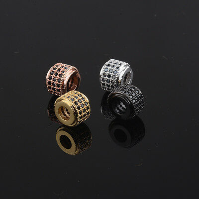 Zircon Gemstones Pave King Crown Leopard Head Bracelet Connector Charm Beads 6
