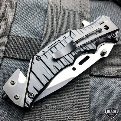 Military Tactical Camping Spring Assisted Open Folding Rescue Pocket Knife USMC 5