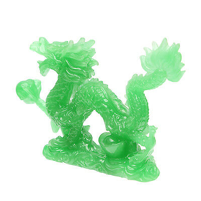 Jade Color Chinese Feng Shui Dragon Figurine Statue for Luck Success Lucky 6'' ! 5