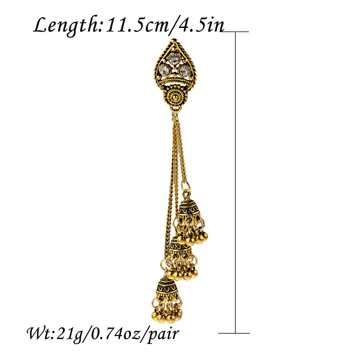 Women Jewelry Bohemia Indian Charm Gold&Silver Pendant Fashion Retro Earrings 4