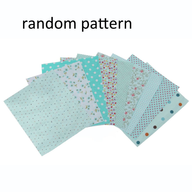 9pcs 20cm*25cm DIY Blue Cotton Fabric Patchwork Batiks Mixed Bundle Sewing Craft 3