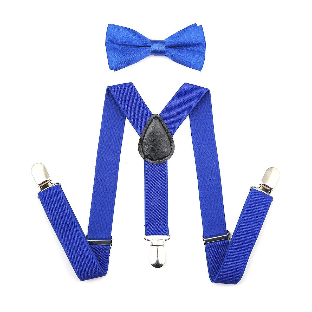 Adjustable Suspender and Bow Tie Set for Baby Toddler Kids Boys Girls Children 3