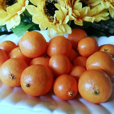 24 X kleine Mandarinen Mineolas DEKO Obst Attrappen Dekoration Kunstobst Früchte 3