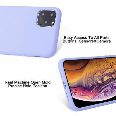 Silicone Case For iPhone 7 8 Plus X XS 11 Pro Max Full Protection Soft TPU Cover 2