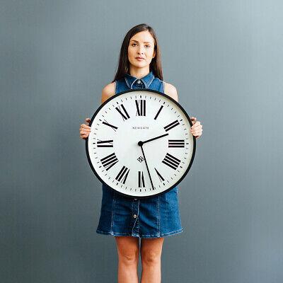 NEWGATE® CLOCKS Extra Large 53cm Black Roman Numeral Round Analogue Wall Clock 4