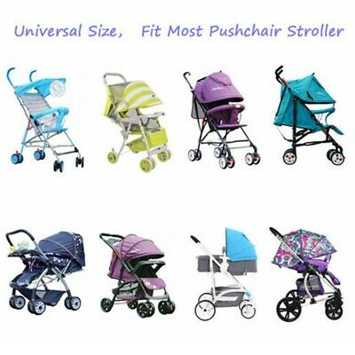 Rain Cover Raincover For Universal Buggy Pushchair Stroller Pram Baby Car US 4