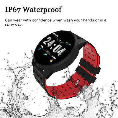 Smart Watch Bracelet Wristband Heart Rate Blood Pressure Monitor Fitness Tracker 9