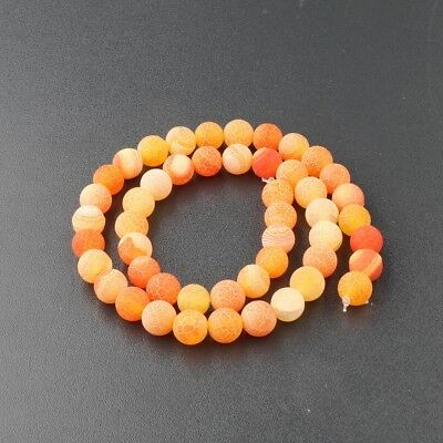 Wholesale Natural Matte Frosted Spacer Gemstone Round Loose Beads Assorted Stone 2