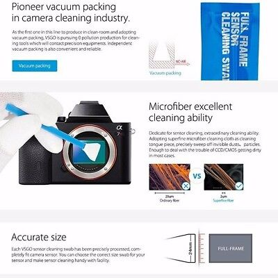 10PCS/Set APS-C CCD/CMOS Sensor Cleaning Swab Kit For DSLR Lens Digital Camera