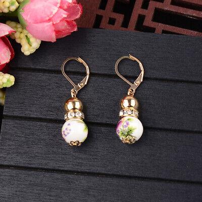 2 Beads Colored Enamel Gemstone Earrings Bohemian Handmade Fashion Earrings Gift 2