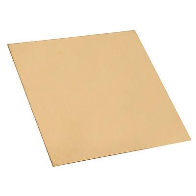 New Brass Metal Thin Sheet Foil Plate Shim Thick 0.2mm 100X100mm 1pcs