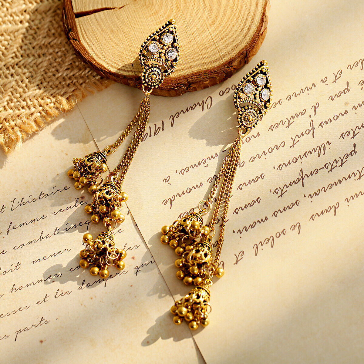 Women Jewelry Bohemia Indian Charm Gold&Silver Pendant Fashion Retro Earrings 11