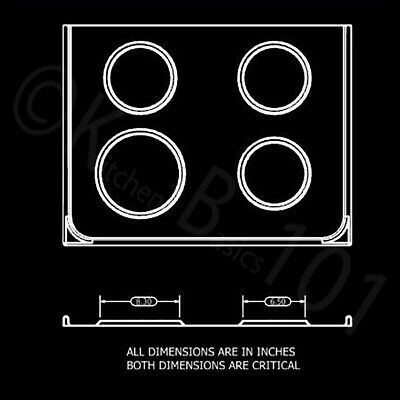 Replacement for Whirlpool Stove Drip Pans, Black W10288051 Two 6-Inch,Two 8-Inch 9