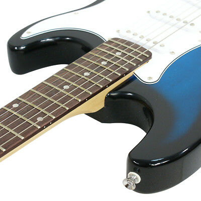 Full Size Blue Electric Guitar with Amp, Case and Accessories Pack Beginner 5