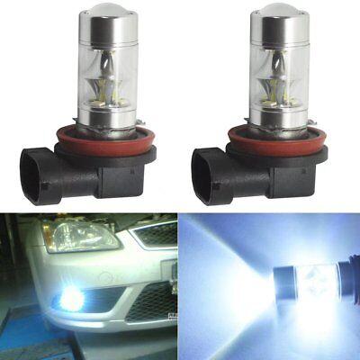 2x H8 H11 H16 6000K White 100W High Power CREE Fog Light LED Driving Bulb DRL AU