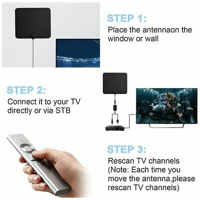 [350 Miles] Clear Indoor Digital TV HDTV Antenna [2019 Latest] UHF/VHF/1080p 4K 11