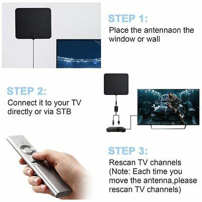[980 Miles] Clear Indoor Digital TV HDTV Antenna [2019 Latest] UHF/VHF/1080p 4K 10