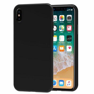 Cover Custodia + Pellicola Vetro Temperato Per Iphone 6/6S 7/8 X/Xs  Nero Opaco 5