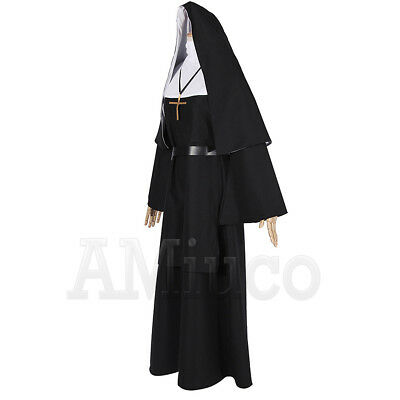 Women Nun Robes Dress For The Conjuring Scary Suit The Nun Valak Cosplay Costume 3