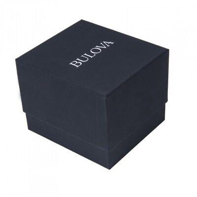 Bulova Men's 97A132 Automatic Open Heart Black Dial GoldTone Bracelet 42mm Watch 6