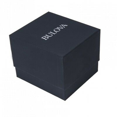 Bulova Men's Quartz Black Dial Rose Gold Case Leather Band 37mm Watch 97B165 4
