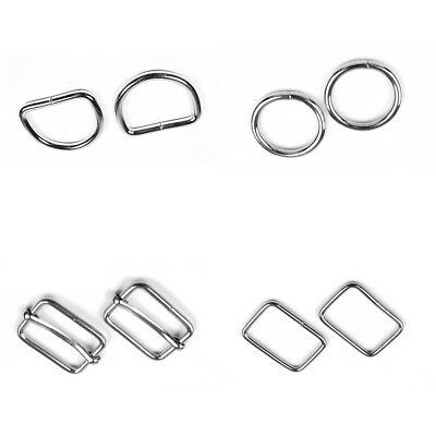 Metal Webbing Strap Fitting Buckle D Ring O Ring Clip Slider 20 25 30 35 & 50mm 2