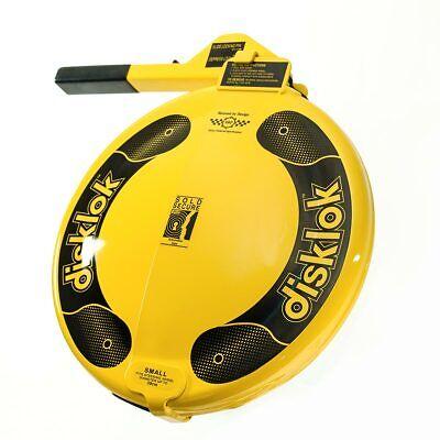 Disklok Security Small 35 - 38.9cm Yellow Disklok Steering Wheel Anti Theft Lock 4