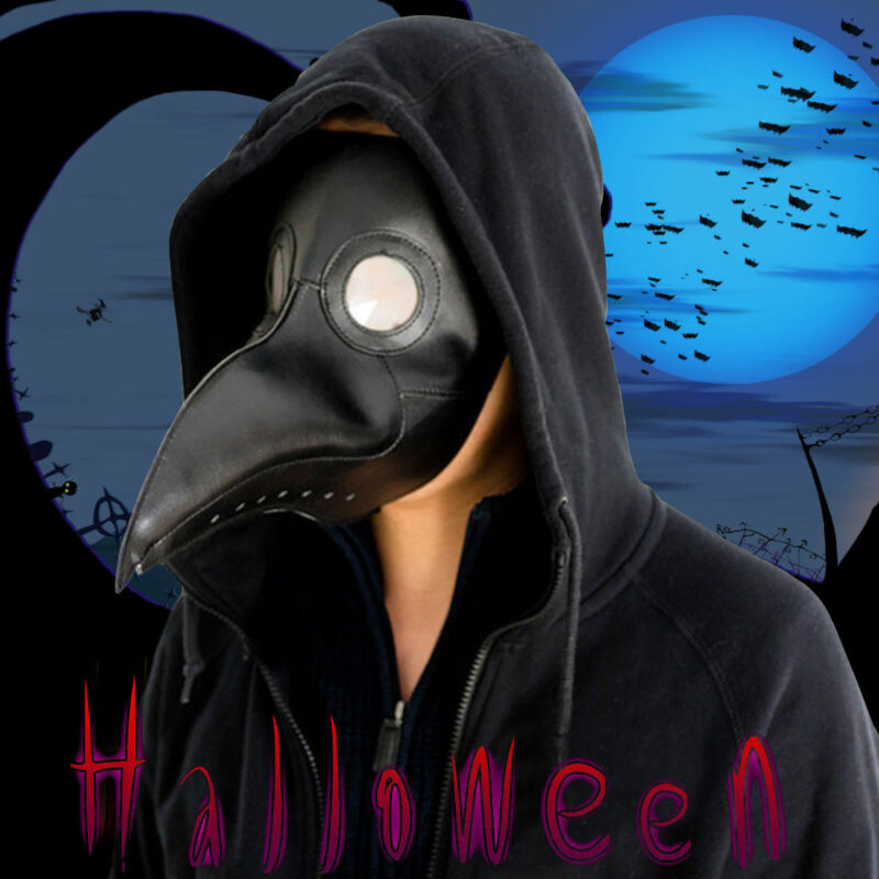 Pestmaske Doctor Schnabel Maske Schnabelmaske Cosplay Halloween Kostüm Props Neu