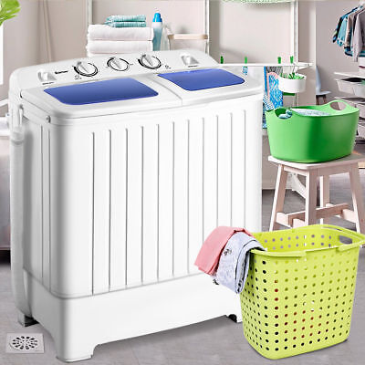 Portable Mini Compact Twin Tub Washing Machine Washer Spin Dryer 17.6lb 2