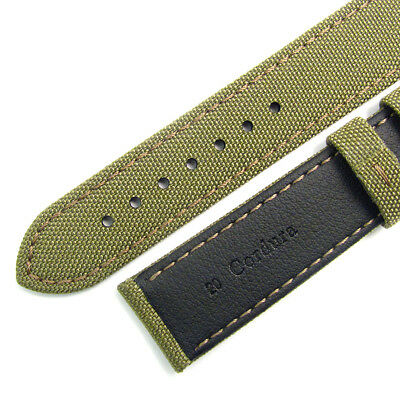 Replacement Watch Strap CORDURA Fabric Leather Lining 4 Colours 18mm - 24mm 2