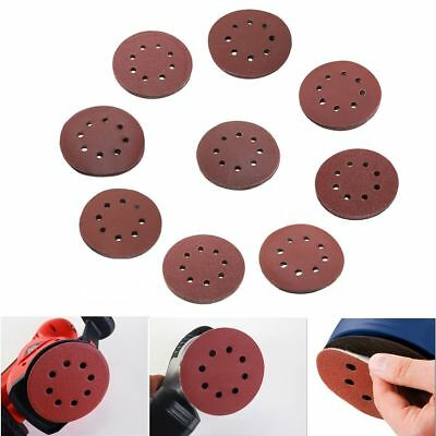 10X 5 inch 125mm Round Shaped Sanding Disc Pads 8 Hole Sandpaper 60-1000 Grit WD 5