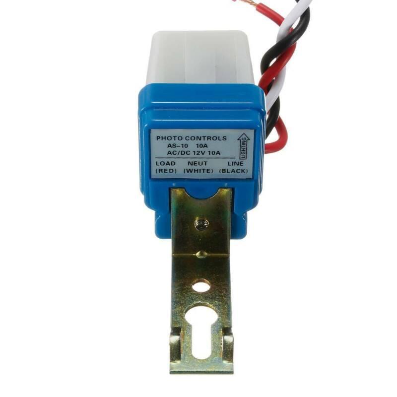 Interrupteur crépusculaire 12V 10 A Capteur lumière Twilight ensemble 2