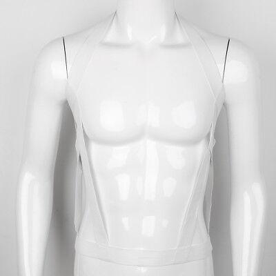 Herren Dessous Nylon Body Brust Harness Kostüm Neckholder Elastisch Belt Gürtel 3