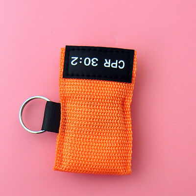 100 CPR MASK KEYCHAIN CPR FACE SHIELD POCKET AED TRAINING  CPR 30:2 Disposable 5
